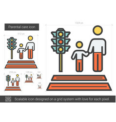 Parental care line icon vector