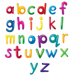 Small letters of the alphabet vector image vector image