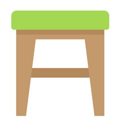 stool flat icon furniture and interior vector image