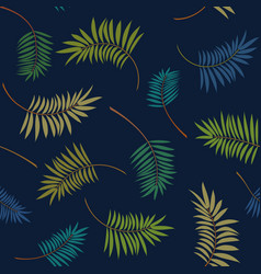 tropical colorful palm leaves pattern vector image