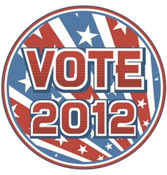 United States of America Elections pins 2012 vector image