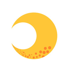 cute moon isolated icon vector image vector image