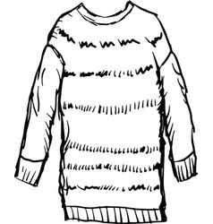 female winter pullover vector image vector image