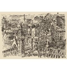London England vintage hand drawn sketch vector image