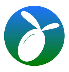 olive sign white icon in vector image