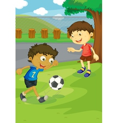 Soccer in the park vector image