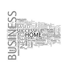 are you ready to start a home based business text vector image vector image