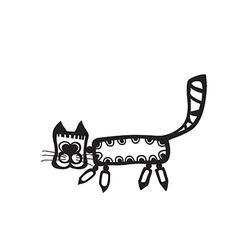 Black cat for your design vector image