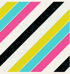 retro colors diagonal lines background pop-art vector image vector image
