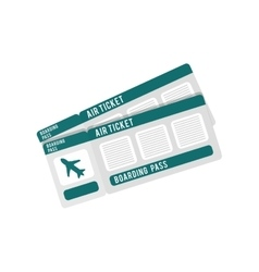 ticket airplane travel checkin vector image