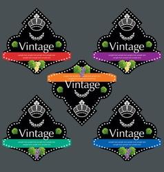 wine labels12 vector image vector image