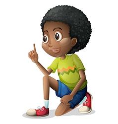 A cute black kid vector