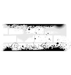 Banner in gray color with brick walls background vector image vector image