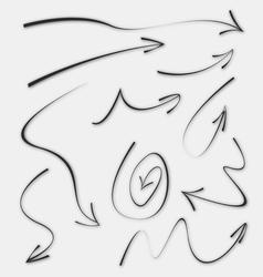 Doodle Sketch Arrows vector image vector image