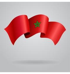 Moroccan waving Flag vector image vector image