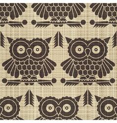 owls print vector image vector image