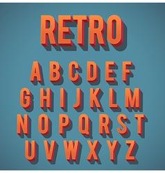 Retro 3D Alphabet Set vector image vector image