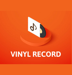 vinyl record isometric icon isolated on color vector image