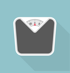weight scale with long shadow vector image