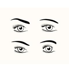 Woman eye silhouettes vector image vector image