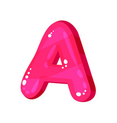 A magenta bright english letter kids font vector