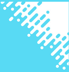 abstract blue rounded lines dialognal halftone vector image