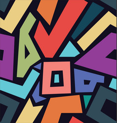 abstract modern colorful retro design background vector image