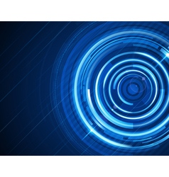 Abstract technology circles and digital light vector image