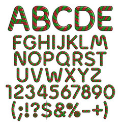 Alphabet numbers signs from christmas sweets vector