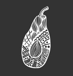Avocado on white background vector