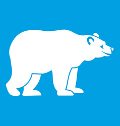 bear icon white vector image