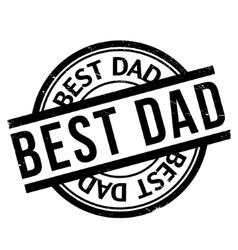 Best Dad rubber stamp vector
