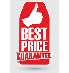 Best price guarantee banner vector image