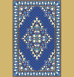 Blue template for carpet vector