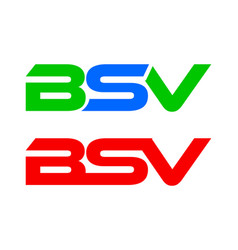 bsv letter logo collection vector image