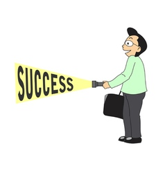 Businessman find success vector image