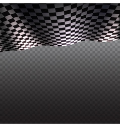 Checkered flag on transparent background vector image