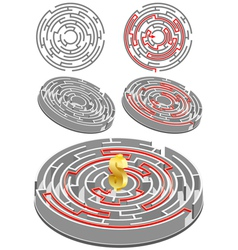 Circular labyrinth vector
