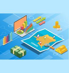 congo isometric financial economy condition vector image