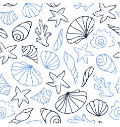 contour seamless pattern vector image