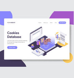 cookies database isometric vector image