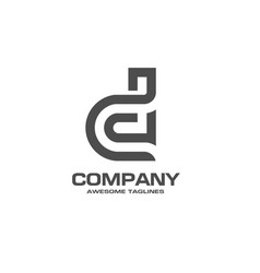 Creative letter d logo vector