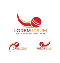 cricket sport logo design vector image