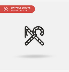 Crook and flail simple icon vector