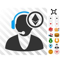 ethereum operator icon with bonus vector image