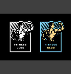 figure a posing athlete fitness center vector image