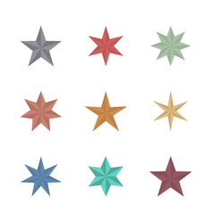 flat star with 3d effect vector image