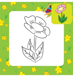 flower coloring page vector image