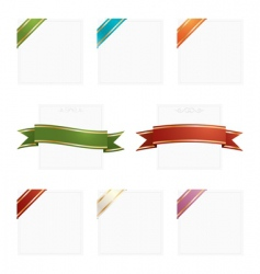 frames with ribbons vector image