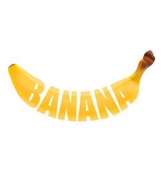 fresh banana lettering vector image